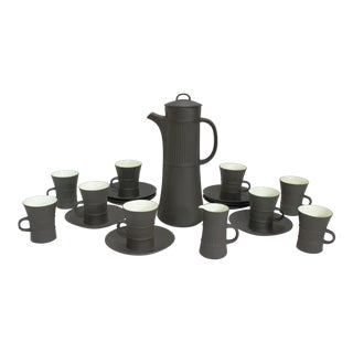 Dansk Flamestone Coffee Service by Jens Quistgaard, 21 Piece Set For Sale