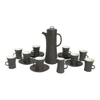 Dansk Flamestone Coffee Service by Jens Quistgaard, 21 Piece Set For Sale