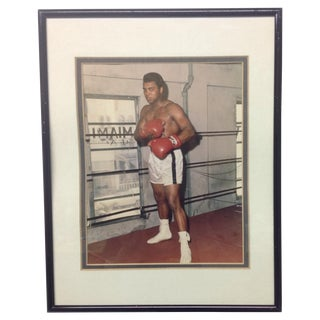 Authentic Autographed Photo of Muhammad Ali, 1970s