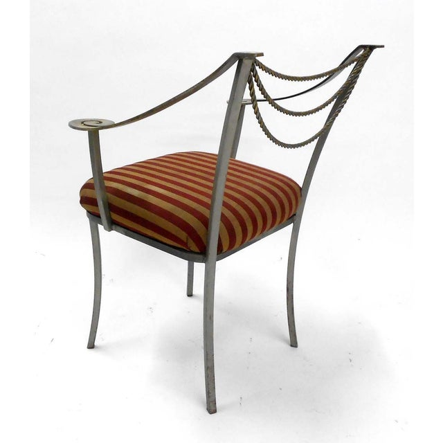 Neoclassical Inspired Metal Armchair - Image 5 of 8