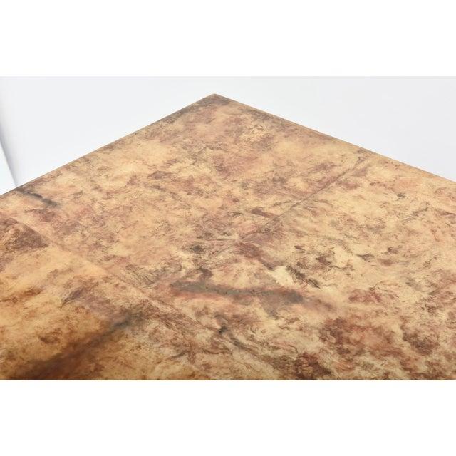 "Wood Fine American Modern ""Goatskin"" Game Table/Extension Dining Table, Karl Springer For Sale - Image 7 of 10"