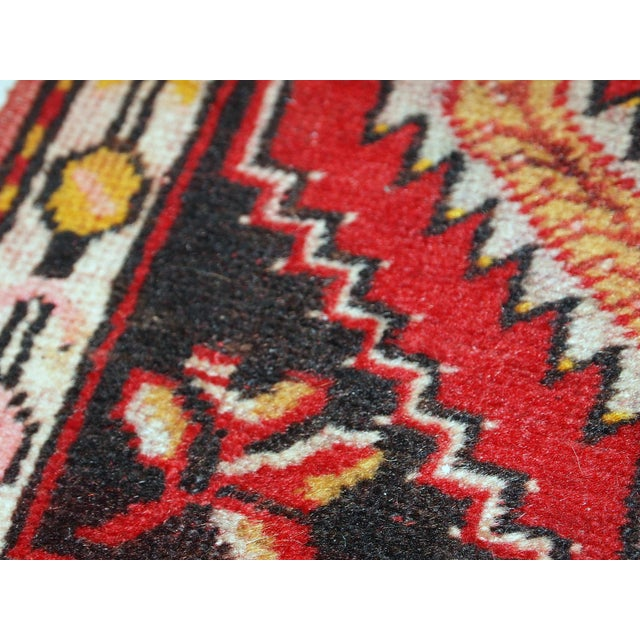 1960s, Handmade Vintage Turkish Yastik Rug 1.6' X 3.1' For Sale - Image 10 of 12