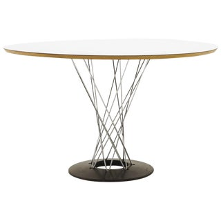 Noguchi Cyclone Dining Table, Out of Production 48 Inch White Top, Signed For Sale