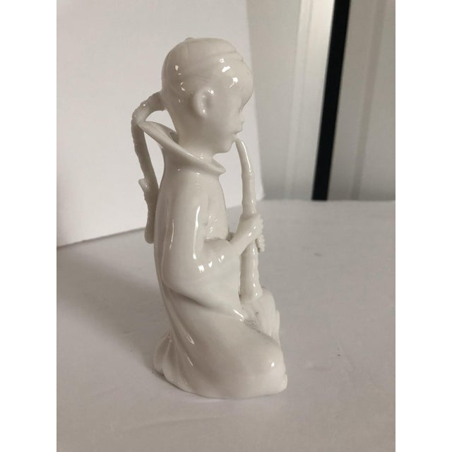 1960s Blanc De Chine Flute Player For Sale - Image 5 of 5