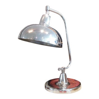 1930's Original Nickel Plated Jeweler's Lamp For Sale