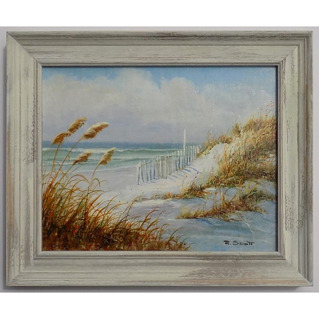 2010s Dune Seascape Painting by R. Scott For Sale - Image 5 of 5