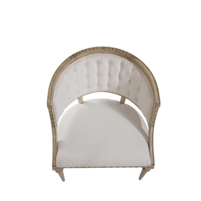 Traditional Swedish Wave Rim Occasional Chair For Sale - Image 3 of 6