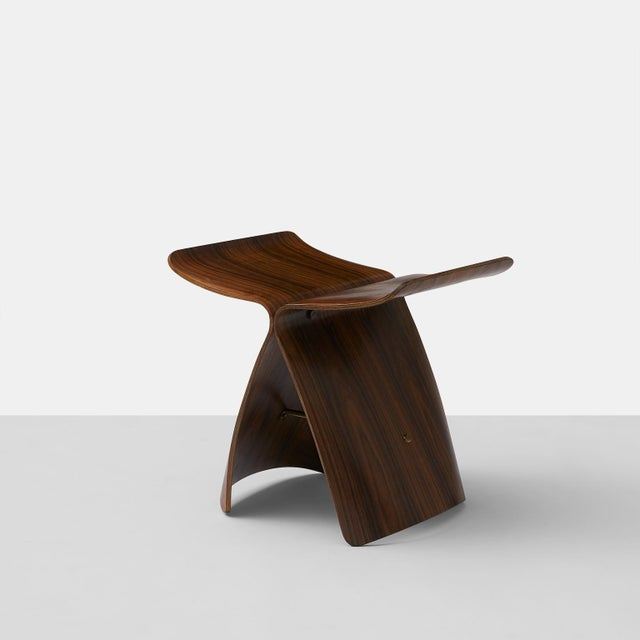 Brown Sori Yanagi Butterfly Stool For Sale - Image 8 of 8