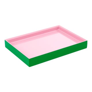 Small Tray in Kelly Green / Pink - Pentreath & Hall for The Lacquer Company For Sale