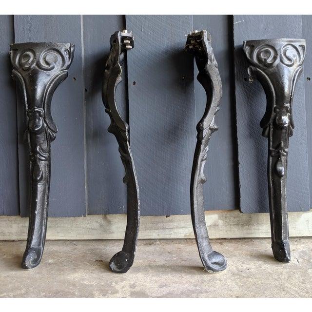 Remarkable English Pub Style Black Iron Coffee Table Legs Set Of 4 Interior Design Ideas Clesiryabchikinfo