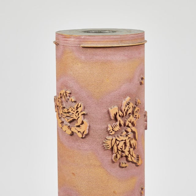 1900 - 1909 Textile Print Roll in Ceramic From Early 20th Century France For Sale - Image 5 of 5