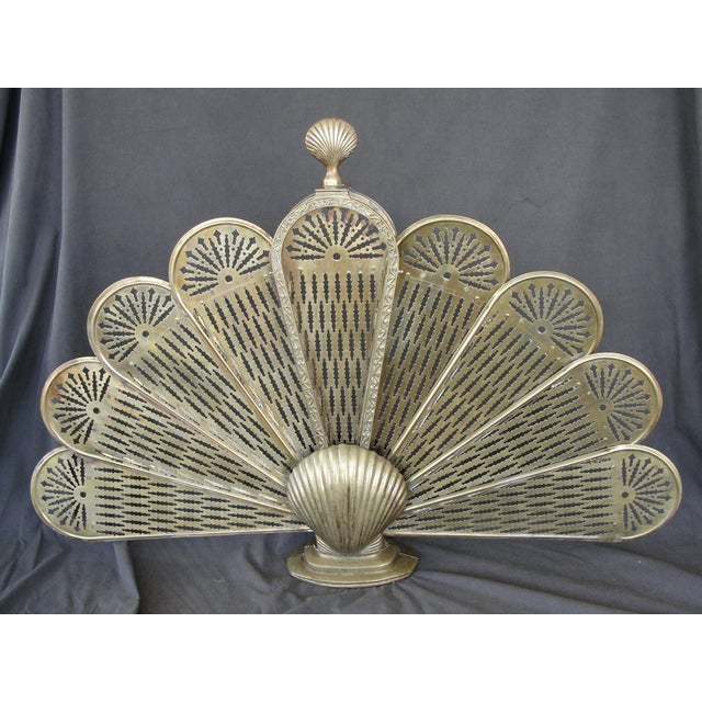 Brass Sea Shell Folding Fireplace Screen - Image 3 of 8