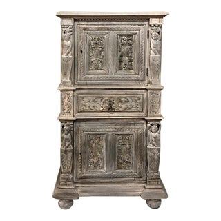 19th Century Renaissance Stripped Cabinet