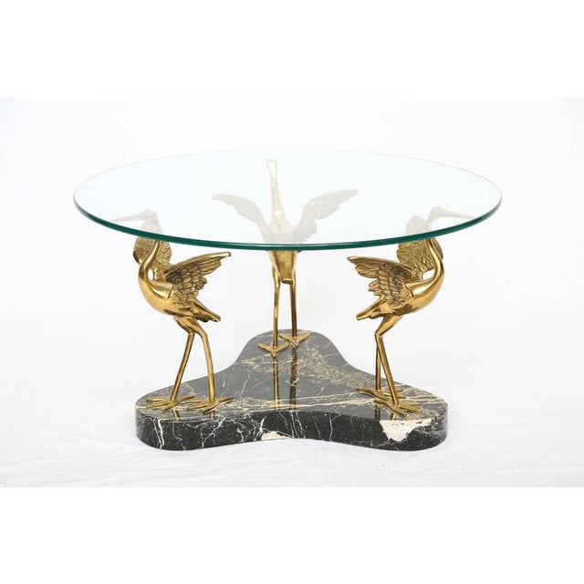 Willy Daro Style Marble & Brass Birds Coffee Table - Image 2 of 9
