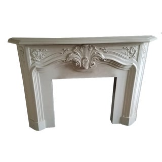Antique Cast Stone Fireplace