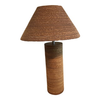 Mid-Century Modern Gregory Van Pelt Corrugated Cardboard Lamp With Shade For Sale