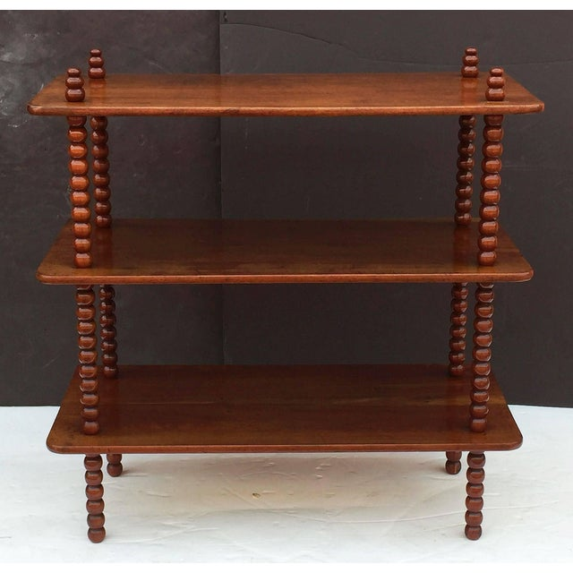 English Console Shelves of Mahogany with Bobbin Turned Supports For Sale - Image 4 of 11