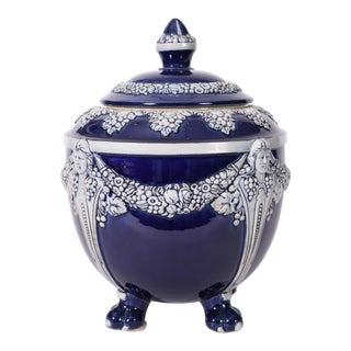 German Porcelain Covered Decorative Piece For Sale