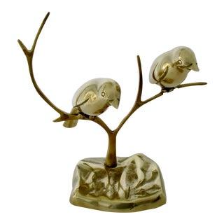 Brass Swallows Sculpture For Sale
