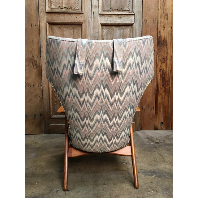 Vintage Mid Century Kurt Ostervig High Back Lounge Chair For Sale In Los Angeles - Image 6 of 13