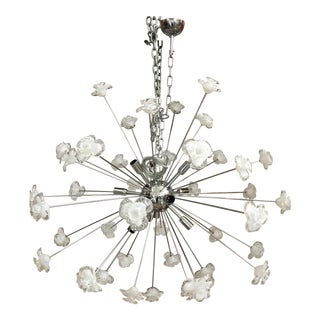 Modern Murano Glass Triedo Sputnik Flower Chandelier For Sale