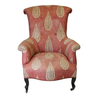 19th Century French Scroll Back Chair For Sale