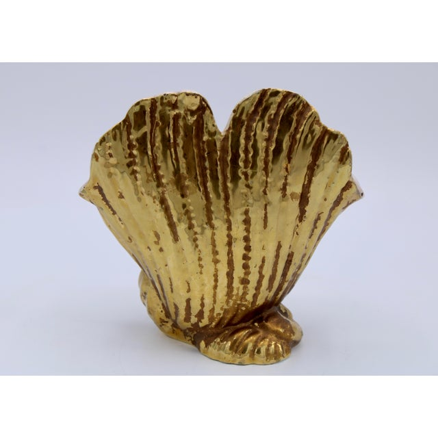 Mid-20th Century Italian Ceramic Shell Cachepot Planter For Sale In Tulsa - Image 6 of 13