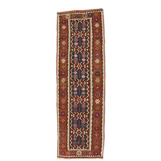 Vintage Persian Kilim Gallery Rug - 04'08 X 14'04 For Sale