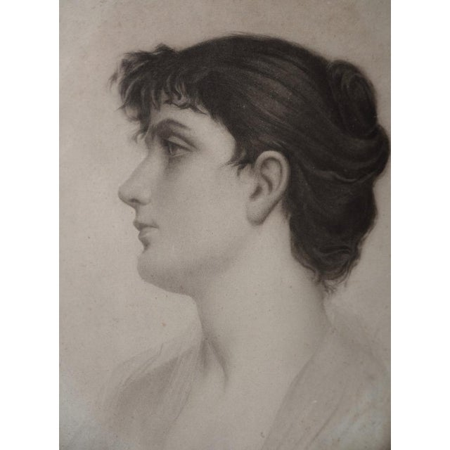 Early 20th Century Graphite Portrait of a Young Woman c.1910 Exceptional portrait by a very talented artist. The sitter is...