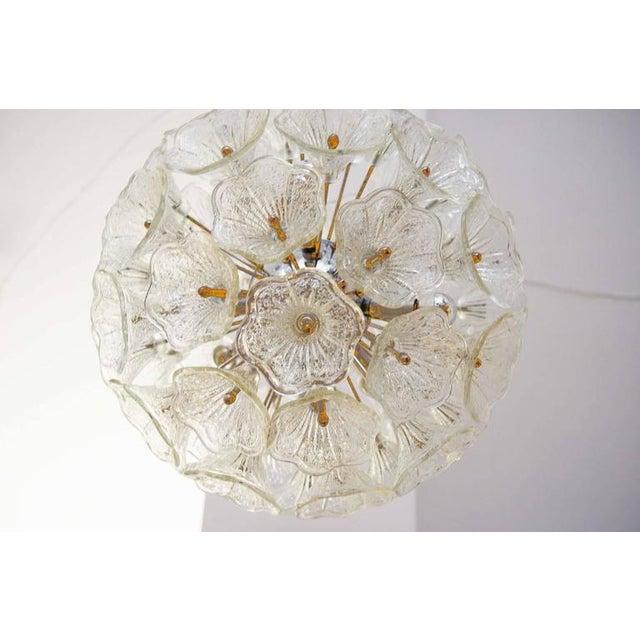 Italian Sputnik Chandelier with Murano Glass Flowers, 1960s For Sale - Image 3 of 6