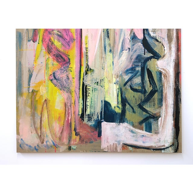 Abstract Molly Herman Looming Abstract Painting For Sale - Image 3 of 4
