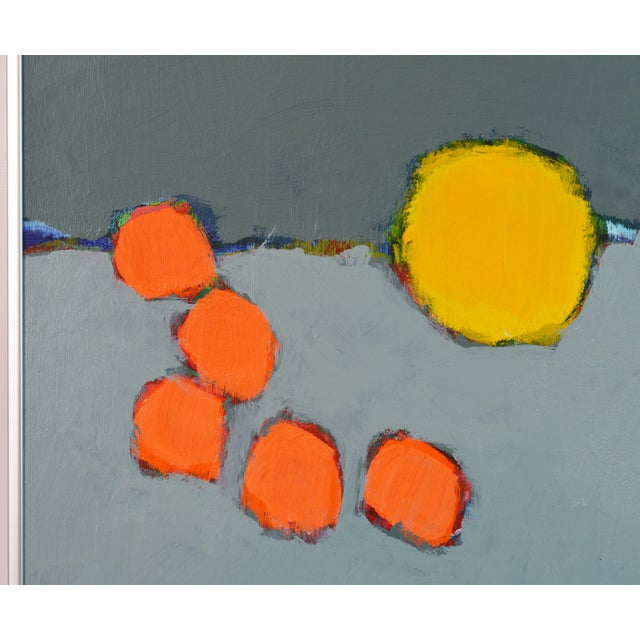 Abstract 'Color Composition' Original Abstract Painting by Lars Hegelund, 25 X 25 In. For Sale - Image 3 of 9