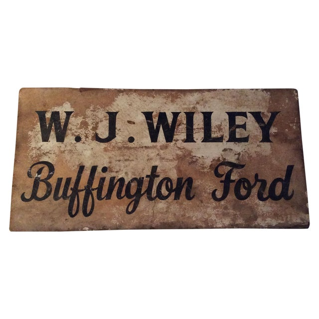 Rustic Vintage Advertising Sign - Image 1 of 3
