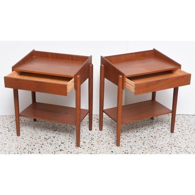 Teak 1960s Danish Teak Side Tables by Borge Mogensen for Soberg Moblefabrik - a Pair For Sale - Image 7 of 11