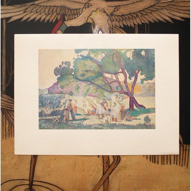 "Impressionism 1947 Henri-Edmond Cross, Original ""The Boilers of Cru"" Parisian Lithograph For Sale - Image 3 of 8"