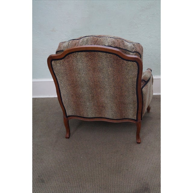 Ethan Allen French Louis XV Cheetah Print Chair For Sale - Image 10 of 10