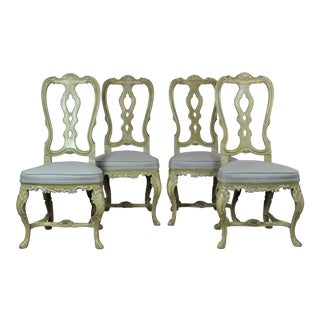 1950s Vintage Italian Dining Chairs- Set of 4 For Sale