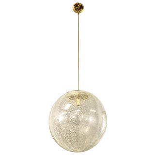 La Murina Large Murano Glass Orb Sphere Chandelier, 1960s For Sale