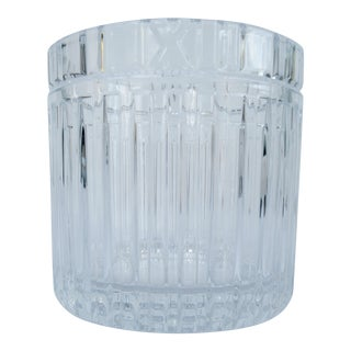 """Tiffany & Co """"Atlas"""" Series Crystal Champagne Ice Bucket For Sale"""
