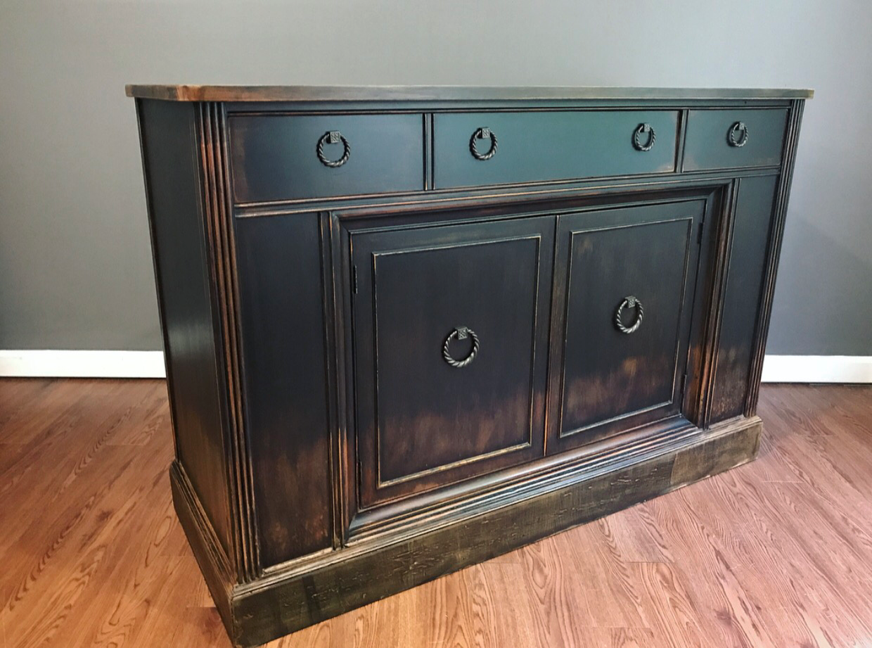 black distressed sideboard weathered black distressed sideboard buffet chairish 1677