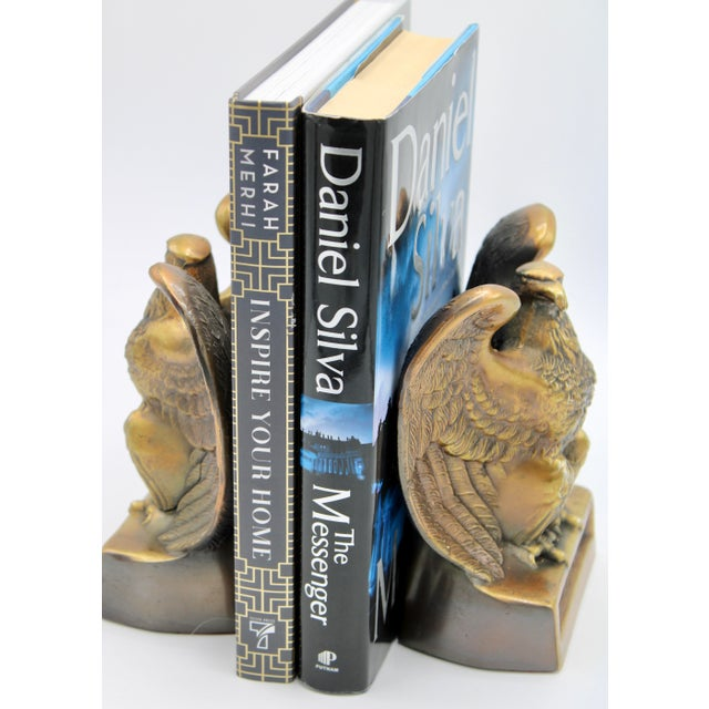"Vintage ""1776"" American Federal Eagle Bookends For Sale - Image 12 of 13"
