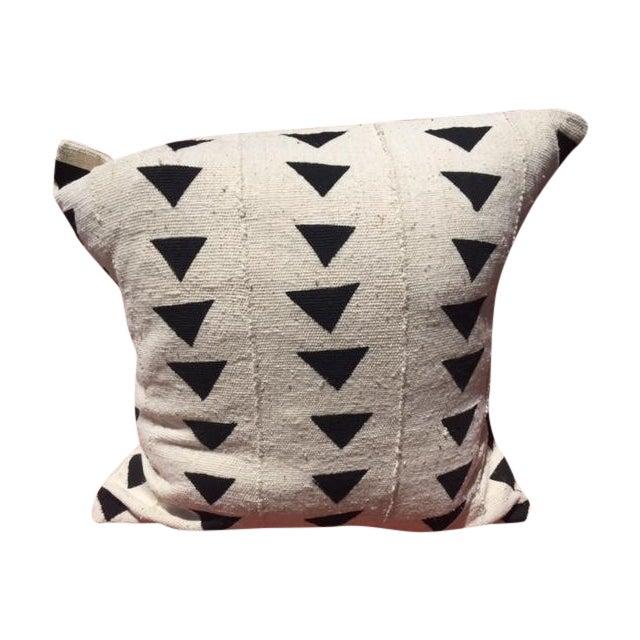Black & White African Mudcloth Pillow - Image 1 of 3