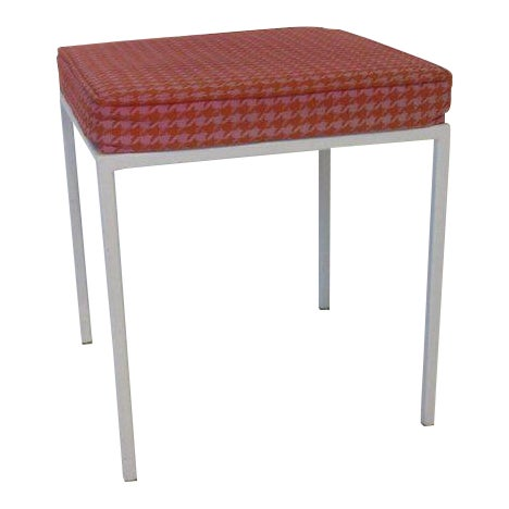 Vista Vanity Stool by Jackson Gregory with Girard Fabric For Sale