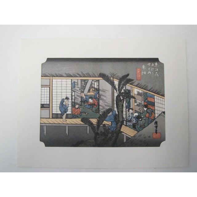 Japanese Wood Block Print by Hiroshige Ando - Image 4 of 11