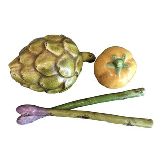 Traditional Foreside Ceramic Vegetable Set - 4 Pieces For Sale