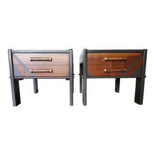 Mid Century Modern Lane End Tables With Gray Art Deco - a Pair For Sale