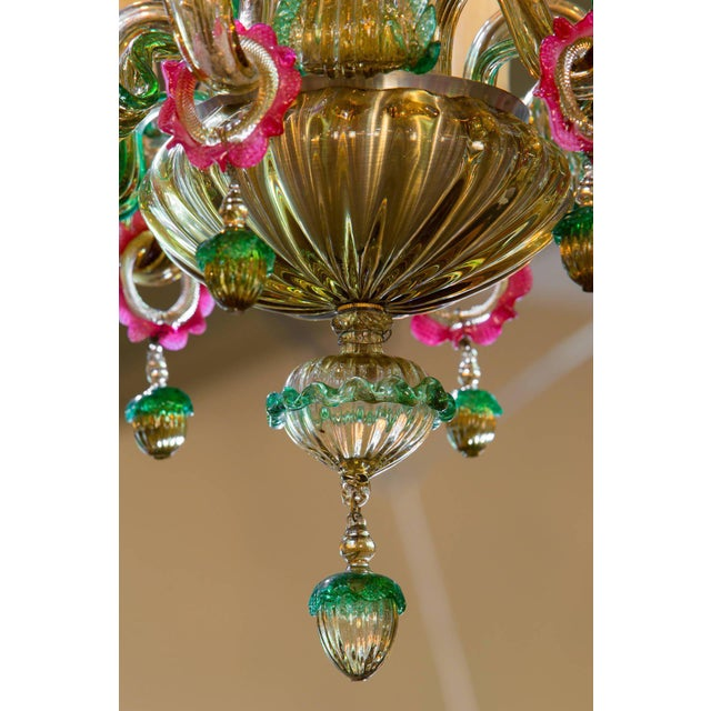 Colorful Italian Blown Murano Glass Chandelier, circa 1920 - Image 2 of 4