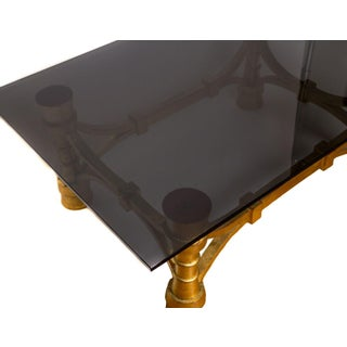 Small Art Deco Gilt-Wood & Black Glass Coffee or Cocktail Table Preview