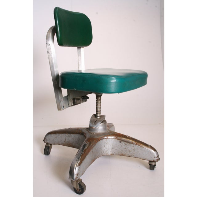 Vintage Industrial Swivel Office Chair by Cole Steel - Image 8 of 11