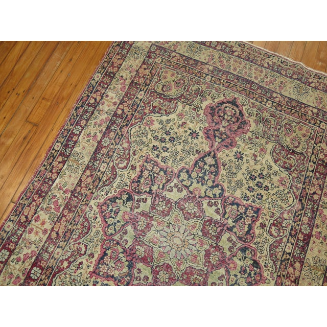 19th Century Lavar Kerman Rug, 4' x 6'4'' For Sale - Image 11 of 11